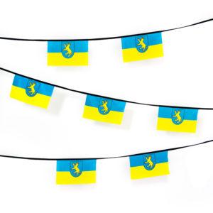Wimpelkette blau gelb Wappen Biberach Schützen Shop Schützenfest