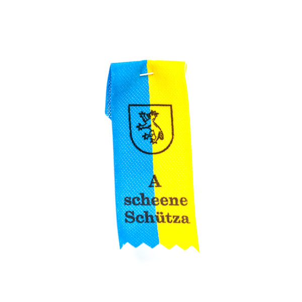 Anstecker blau gelb Biberach Schützen Shop Schützenfest