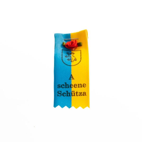 Anstecker blau gelb Rose Biberach Schützen Shop Schützenfest