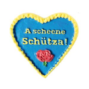 Herz Anstecker blau gelb Biberach Schützen Shop Schützenfest