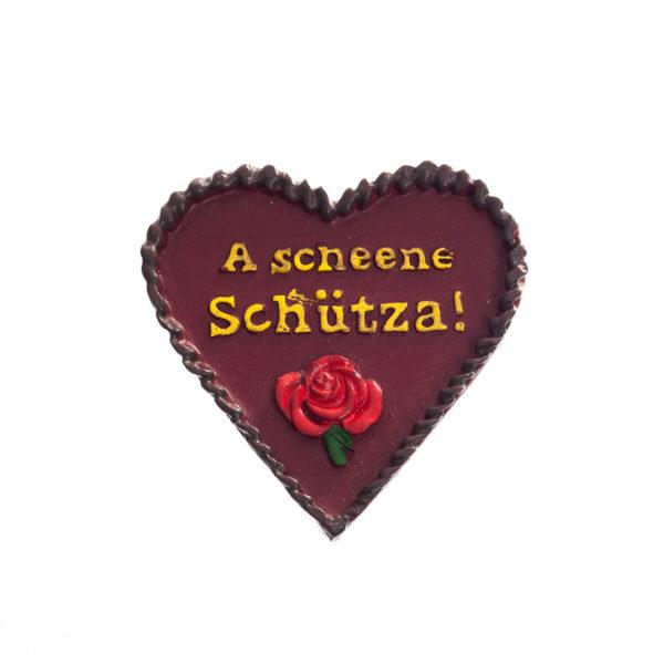 Herz Anstecker braun Biberach Schützen Shop Schützenfest