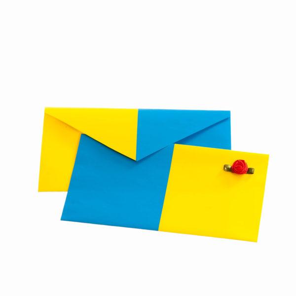 Kuvert blau gelb klein Biberach Schützen Shop Schützenfest