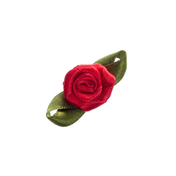 Rose Satin flach klein mit Blatt Biberach Schützen Shop Schützenfest