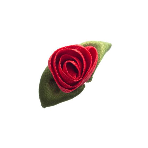 Rose Satin klein mit Blatt Biberach Schützen Shop Schützenfest