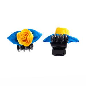 Haarklammer mittel Rose blau gelb Biberach Schützen Shop Schützenfest