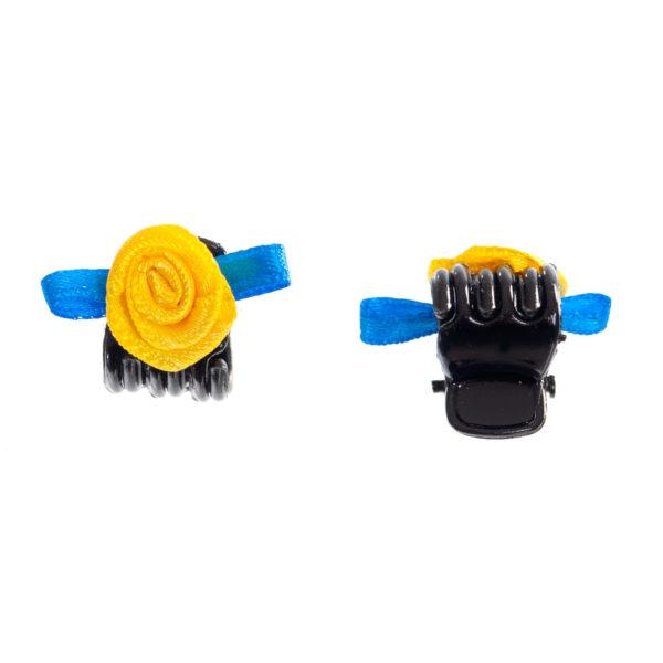 Haarklammer Rose blau gelb Biberach Schützen Shop Schützenfest