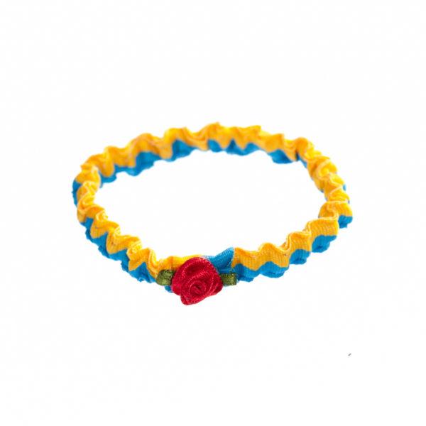 Armband blau gelb Rose Biberach Schützen Shop Schützenfest