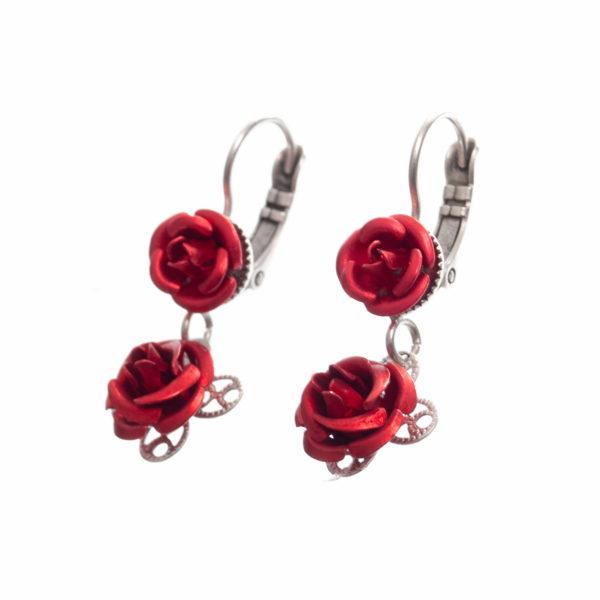 Ohrhänger zwei Rosen Biberach Schützen Shop Schützenfest